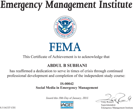 National Fire Academy self-study courses - usfa.fema.gov